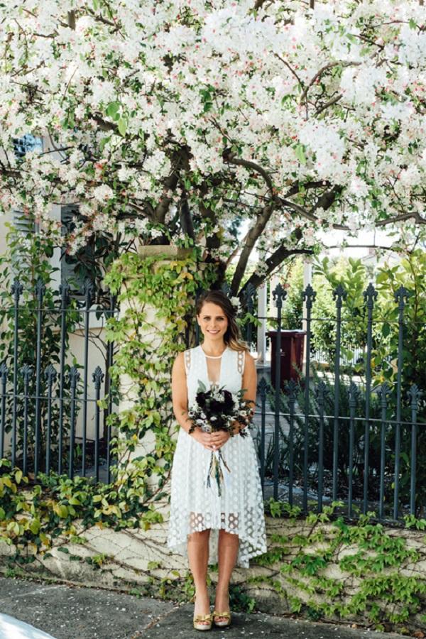 Bride at Fun North Fitzroy Wedding