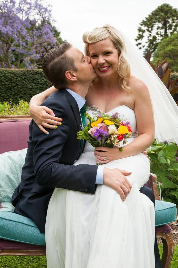 Newlyweds Ecstatic At Garden Wedding