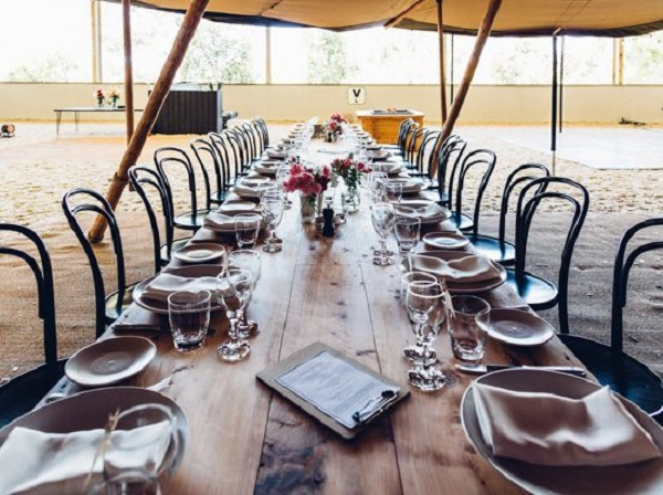 Glam Country Wedding - Table Settings