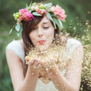 Bride With Glitter