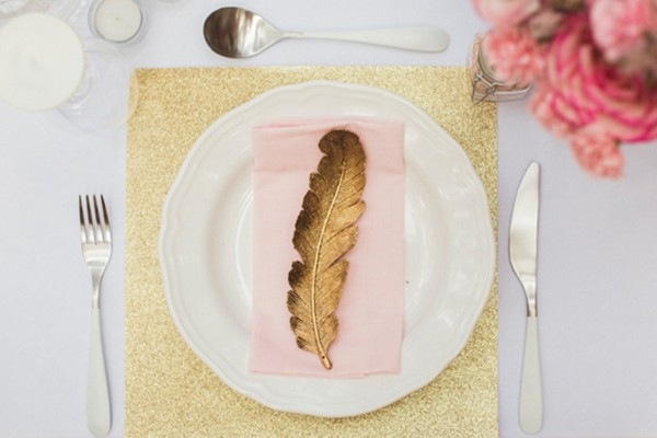 Gold & Pink Table Setting