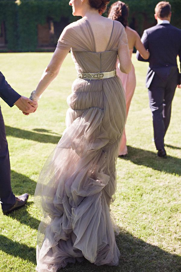 Gray Vera Wang Wedding Dress