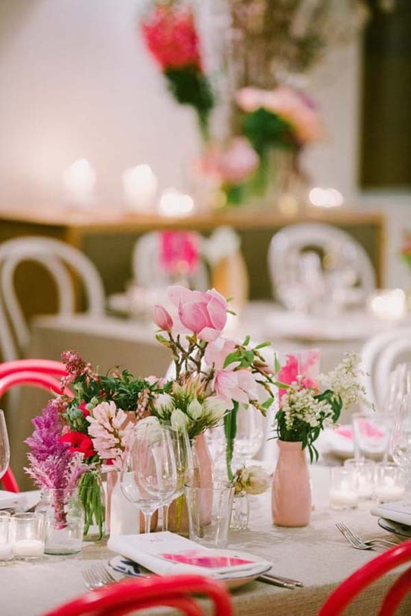 Pink And Taupe Wedding Tablescape
