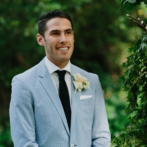 Groom Wearing Pale Blue