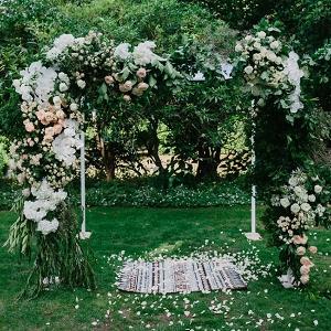 Peach Floral Arch