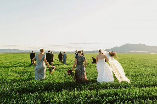 Green Field Wedding Photo