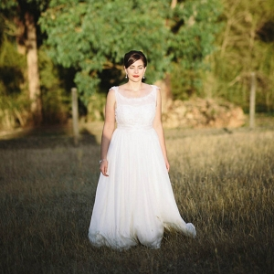 Bride At Farm Wedding