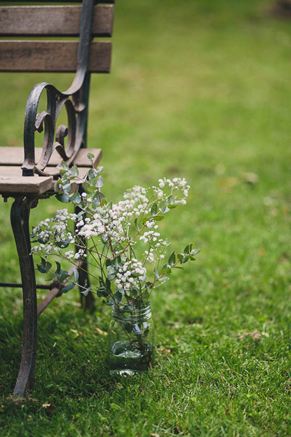 Rustic Wedding Ceremony Flowers