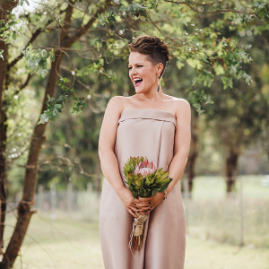 Taupe wedding dress