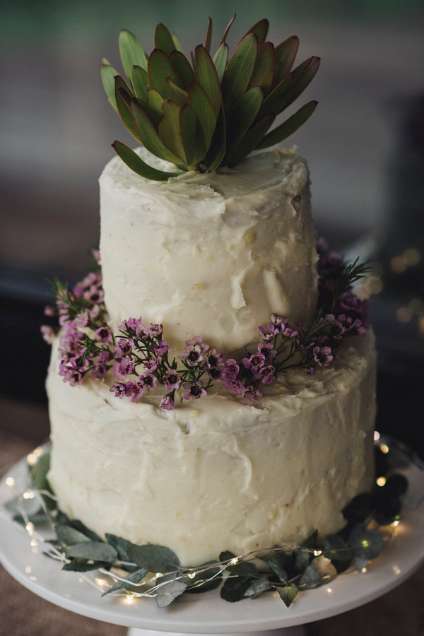 Protea wedding cake