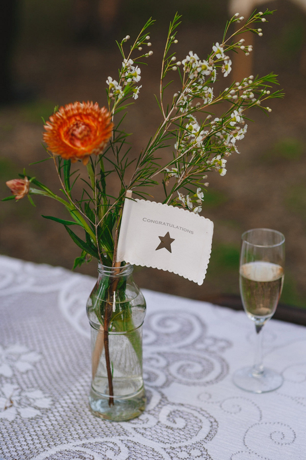 Rustic bottle wedding centerpieces
