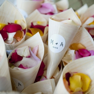 Ceremony petal toss holders
