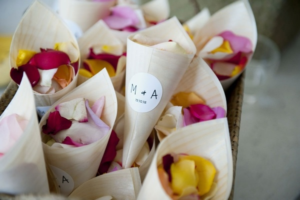 Ceremony petal toss holders