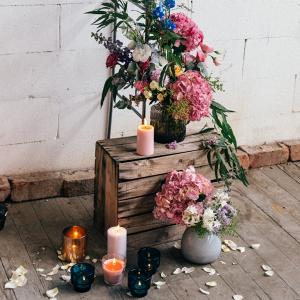 Floral Wedding Arch Detail