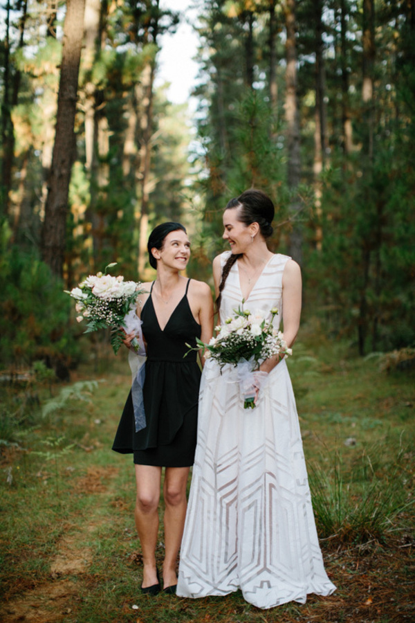 Bride With Her Maid of Honor
