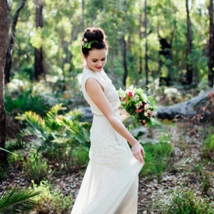 Bride Twirling In Forest