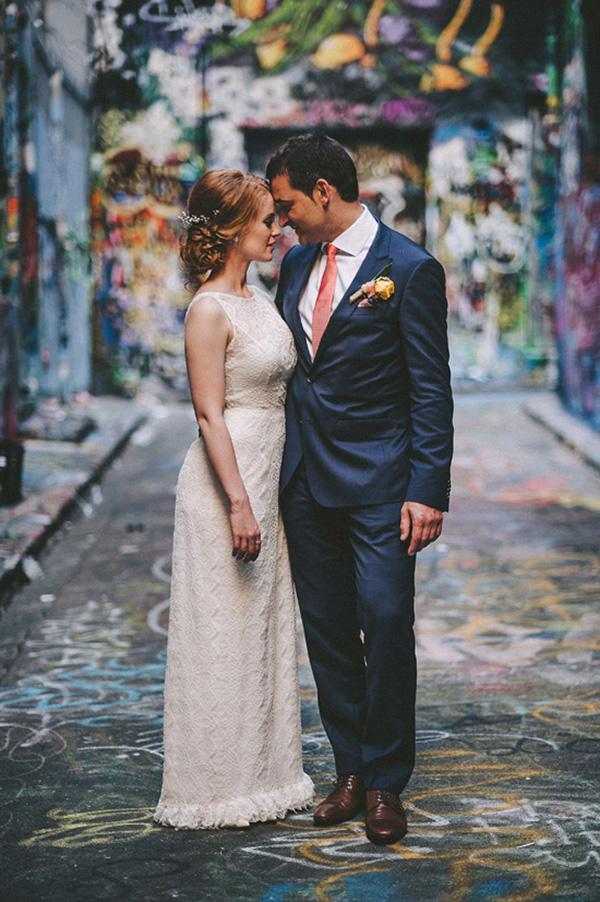 Melbourne Laneway Wedding Photo