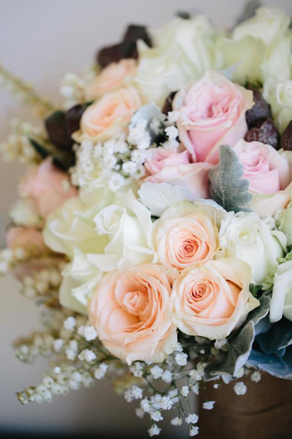 Wedding Bouquet With Pink & Peach