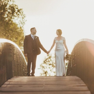 Sunset Wedding Photo