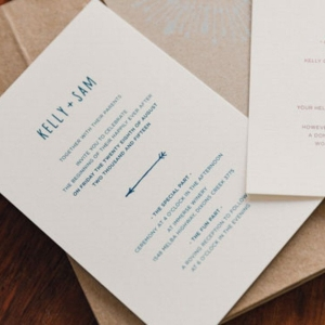Wedding Invitations With Blue