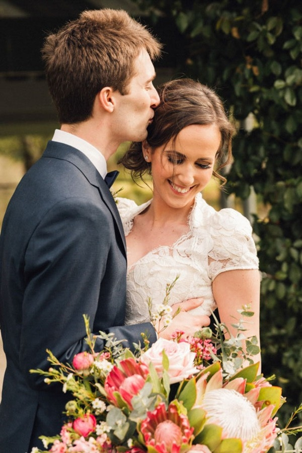 Romantic Winery Wedding Newlyweds