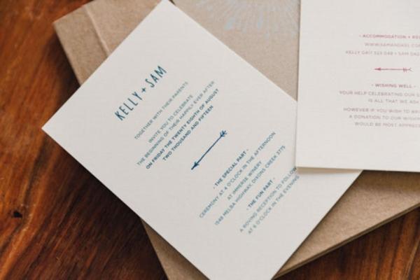Wedding Invitations With Blue