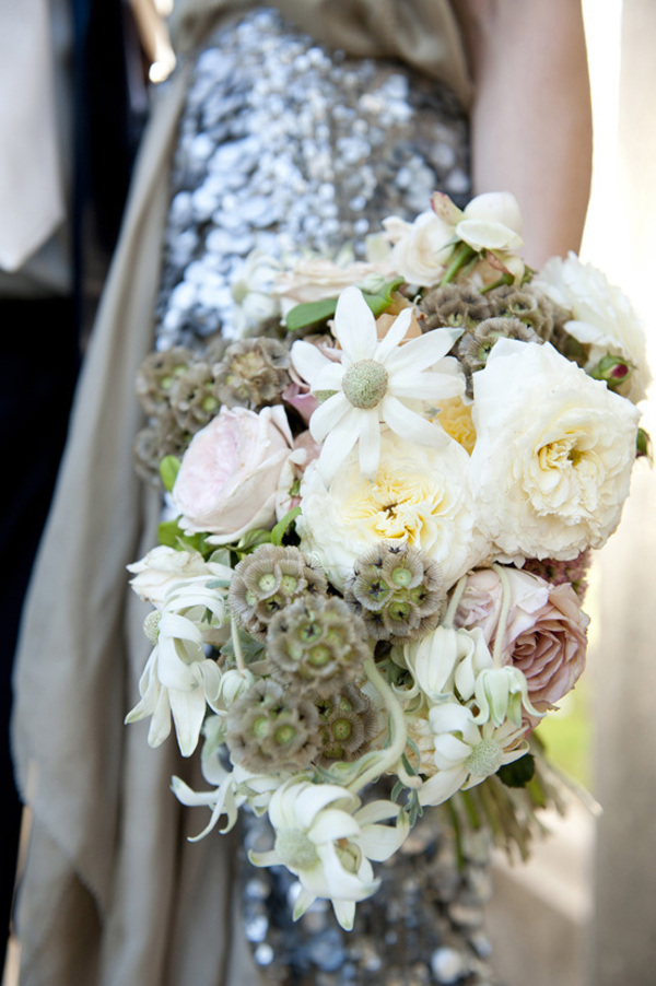 Wedding Bouquet With Scabiosa