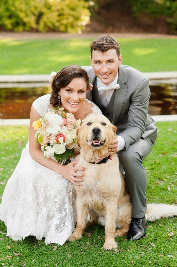 The Couple with their Lovely Dog