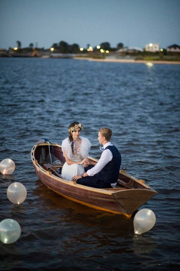 Newlyweds In A Rowboat