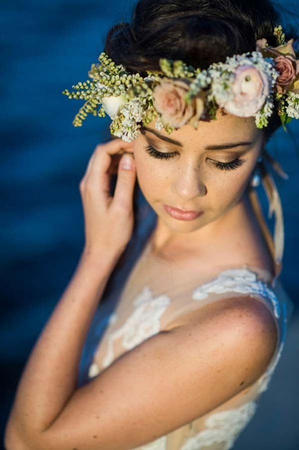Bride With Floral Wreath