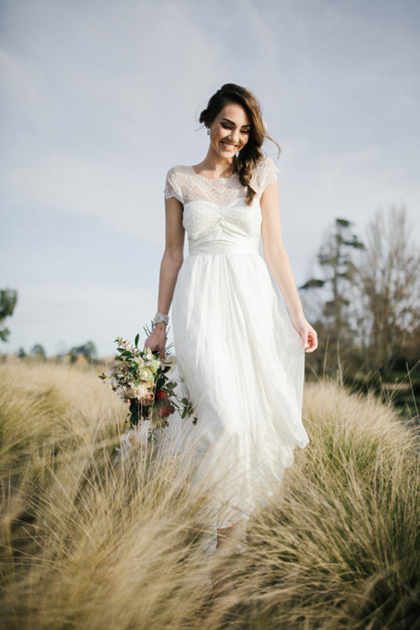 Bride Wearing Anna Campbell