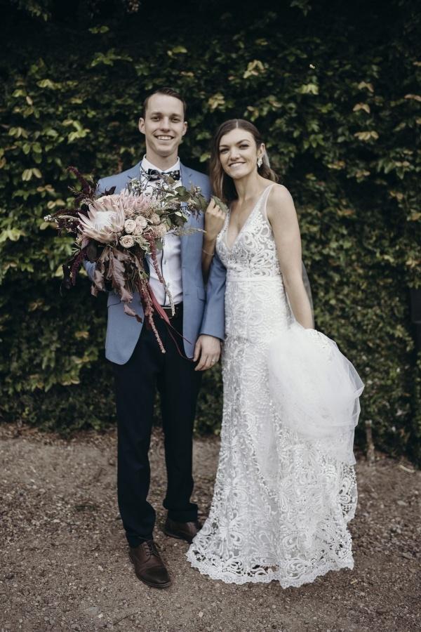 Winery wedding portrait