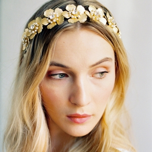 Gold Flower Hairpiece