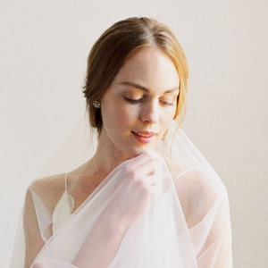 Bride With Sheer Veil