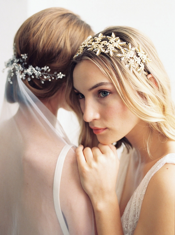 Brides With Beaded Hairpieces
