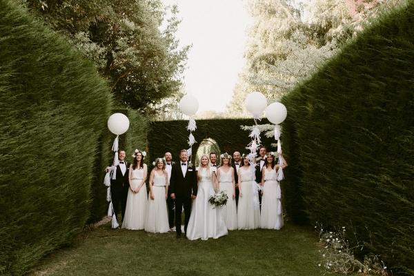 Garden bridal party
