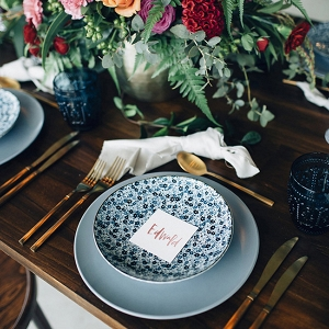 Blue Crockery Place Setting