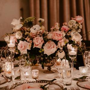 Elegant pink floral centerpiece