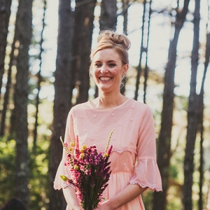 Bridesmaid At Woodland Wedding
