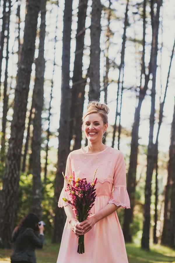 Bridesmaid At Woodland Wedding