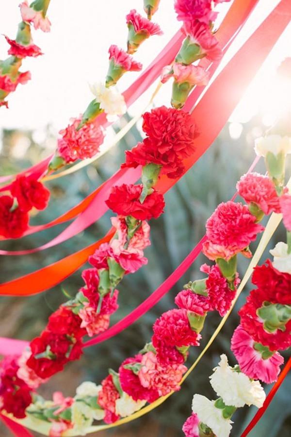 Red & Pink Flower Garland
