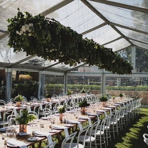 Clear Marquee With Greenery