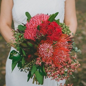 Red Australian Native Bouquet