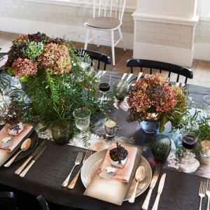 Deep Indigo Table Setting