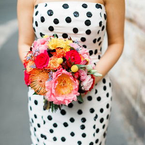Red, pink, and yellow bouquet