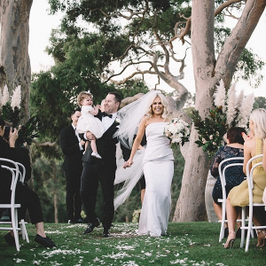 Outdoor winery wedding ceremony