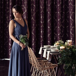 Bridesmaid In Slate Blue