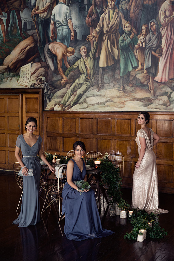 Jewel Tone Bridesmaid Gowns