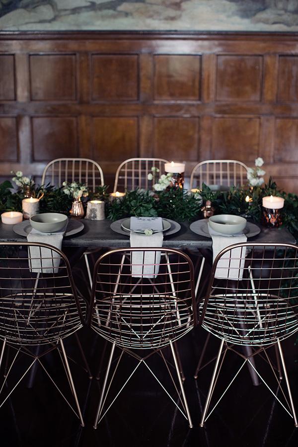 Industrial Wedding Tablescape