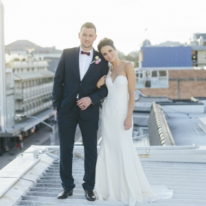 Newlyweds On Rooftop